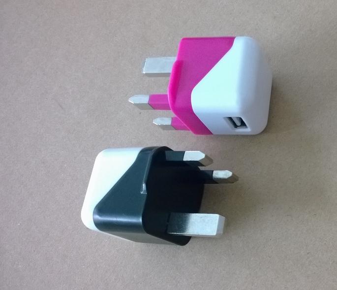 折叠插脚USB充电器UL认证5v1a手机充电器 美国UL手机适配器 8