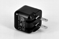 Folding pin USB charger 5v1a cell phone charger UL phone adapter ul charger 10