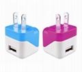 折疊插腳USB充電器UL認証5v1a手機充電器 美國UL手機適配器 13