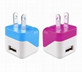 Folding pin USB charger 5v1a cell phone charger UL phone adapter ul charger 13
