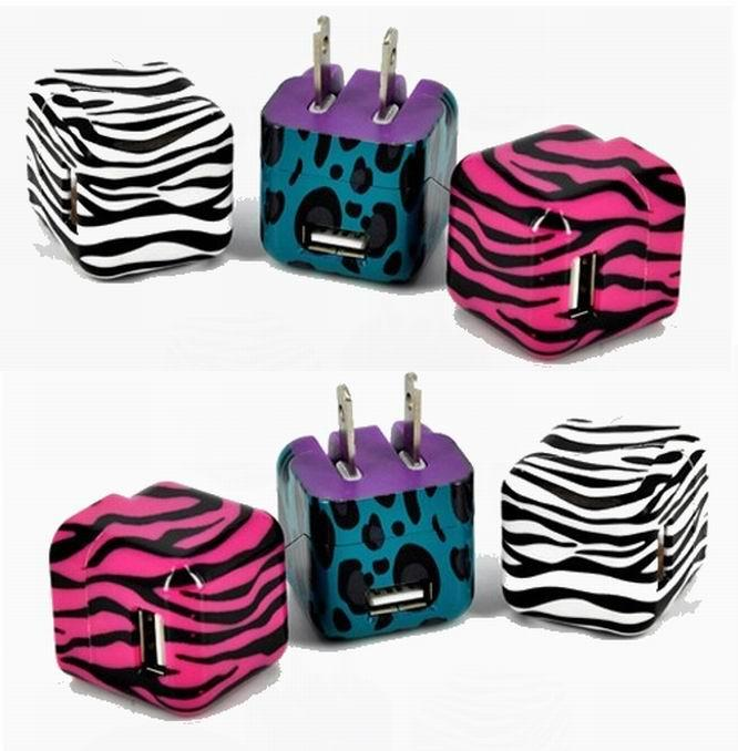 Folding pin USB charger 5v1a cell phone charger UL phone adapter ul charger 2