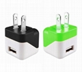 Folding pin USB charger 5v1a cell phone charger UL phone adapter ul charger 5
