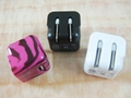 Folding pin USB charger 5v1a cell phone charger UL phone adapter ul charger 4