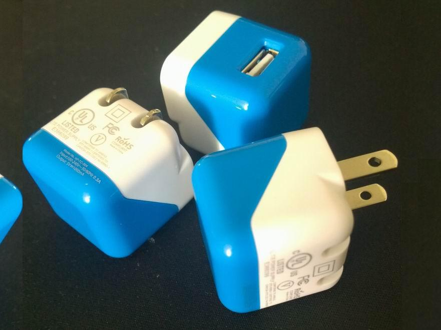 折疊插腳USB充電器UL認証5v1a手機充電器 美國UL手機適配器 15
