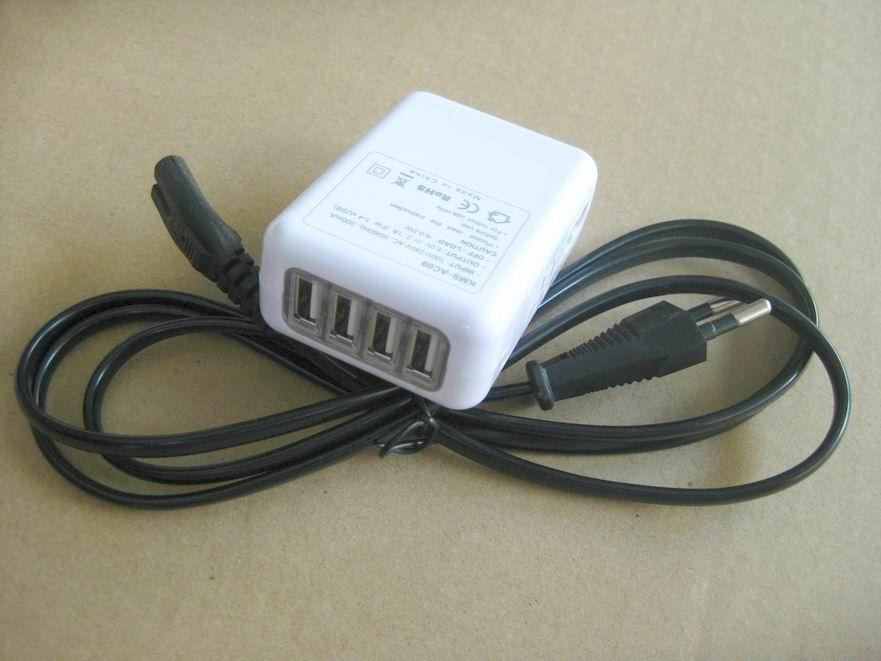 全球通旅行充電器QC3.0快充+4個USB接口旅行充 4