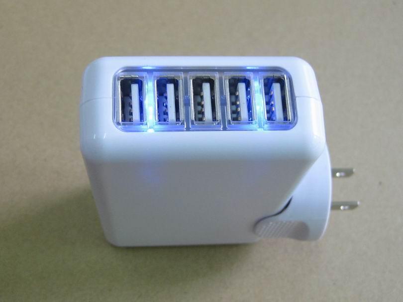 全球通旅行充电器QC3.0快充+4个USB接口旅行充 5