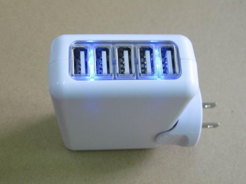 全球通旅行充電器QC3.0快充+4個USB接口旅行充 5