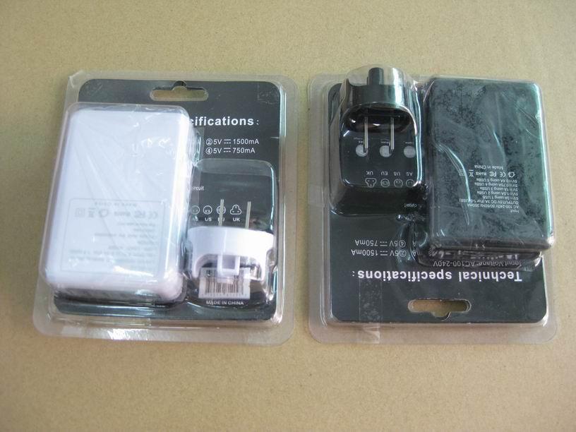 全球通旅行充電器QC3.0快充+4個USB接口旅行充 6