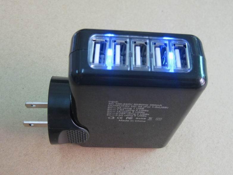 全球通旅行充電器QC3.0快充+4個USB接口旅行充 2