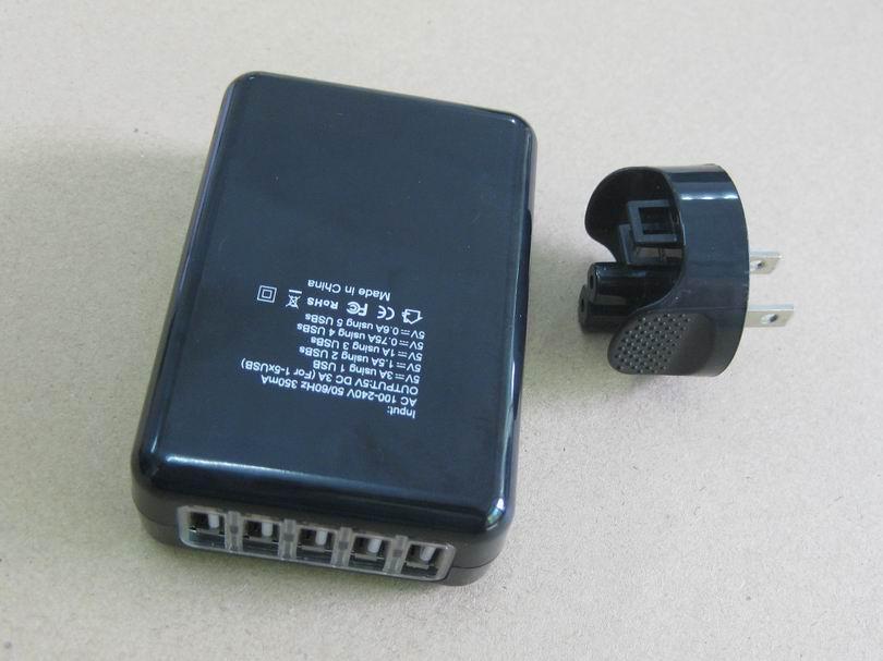 全球通旅行充电器QC3.0快充+4个USB接口旅行充 7