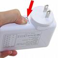 全球通旅行充電器QC3.0快充+4個USB接口旅行充 8