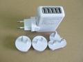 全球通旅行充电器QC3.0快充+4个USB接口旅行充 3