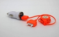 European CE  USB Car Charger 5v2a+1a Car USB Car Charger 6