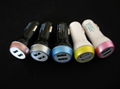 Bowling Car Charger Dual USB Car Charger 5v2a+1a Car Charger 6