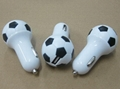 足球形狀usb車充2.1a單口usb足球車載充電器ce fcc認証 8