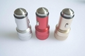 Metal shell usb car charger 5v2.4a dual usb car charger aluminum alloy shell 5