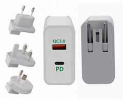 USB-C充电器 PD快充 45W  适用苹果MacBook充电器 iPhone充电器
