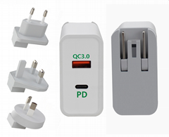 USB-C Charger PD Fast Charge 45W for Apple MacBook Charger iPhone Charger