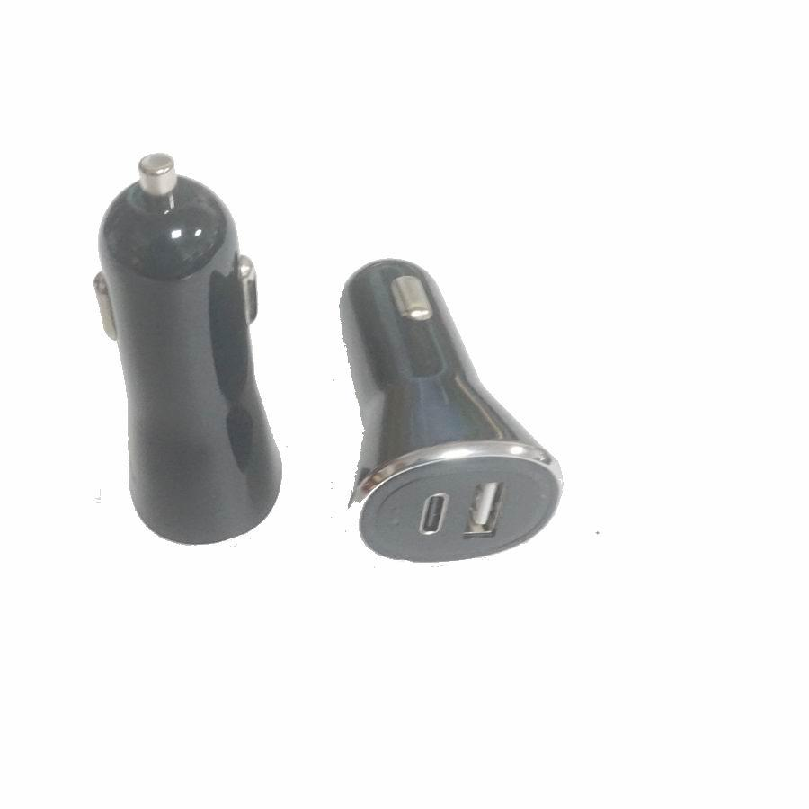 PD car charger PD protocol car charger fast charge 3.0 USB+Type-C car charger 2