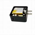 USB充電器帶充電寶 二合一多功能帶充電器移動電源 3