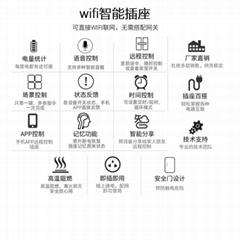 手机app智能插座 wifi链接语音操控 英规插头