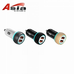 Double QC3.0 car charger two USB are qc3.0 fast charge 5v6a