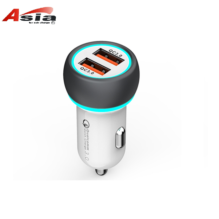 Double QC3.0 car charger two USB are qc3.0 fast charge 5v6a 6