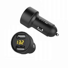 Display car charger 2-port USB 5v3.1a car digital display car charger (Hot Product - 1*)