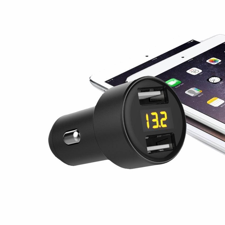 Display car charger 2-port USB 5v3.1a car digital display car charger 4