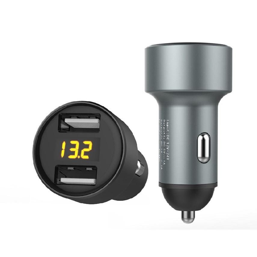 Display car charger 2-port USB 5v3.1a car digital display car charger 2