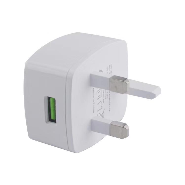 qc3.0英规充电器 英式充电器 出口英国新加坡马来西亚 5