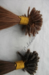 Machine made human hair extension supplier