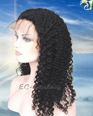 Virgin  Kinky Curl  Human Hair Lace Wigs Maker Factory Price