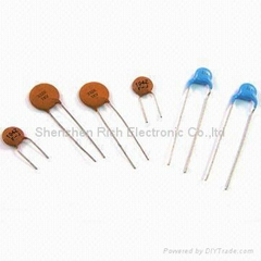 High / low voltage ceramic disc capacitor