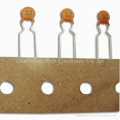 Ceramic Capacitors with 50V DC Voltage Range and 103PF Capacitance