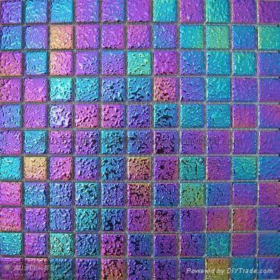 七彩电镀陶瓷马赛克 1