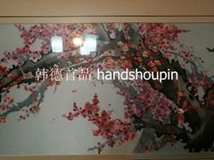 梅花樹開甦繡工藝畫