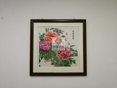 《花開富貴》刺繡工藝品