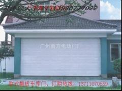 广州欧式电动翻板车库门
