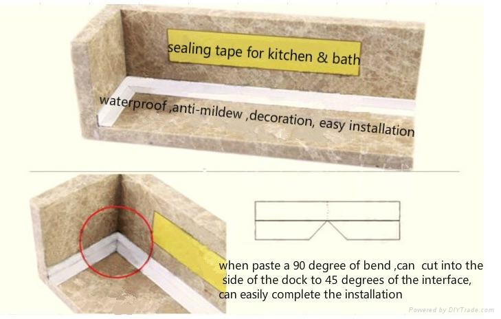 Caulk Strip For Sealing Tub And Wall Joints Waterproof