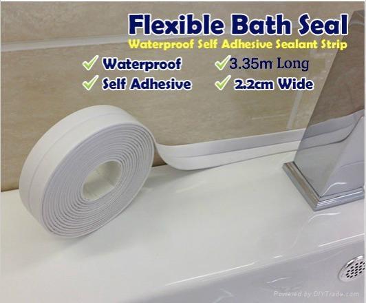 Tub Amp Wall Caulk Strip Provides A Watertight Seal For