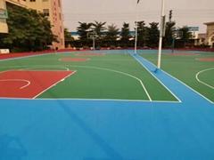 硅PU塑膠籃球場