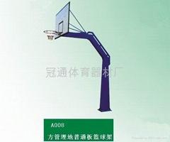 方管固定普通板篮球架