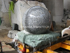 blue pearl granite sphere,stone ball fountain