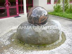kugelbrunnen steinkugel  marmorkugel  kugeln