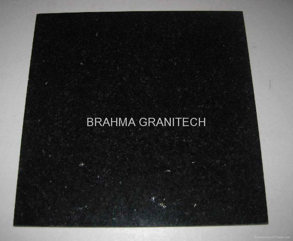 black granite panels