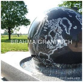 rotating garden ball sphere,garden water feature,stone ball 3
