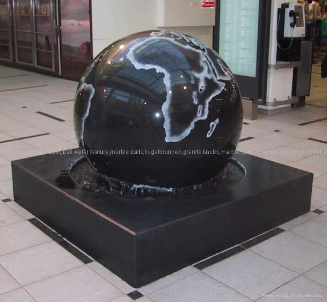 floating sphere fountains,floating granite sphere