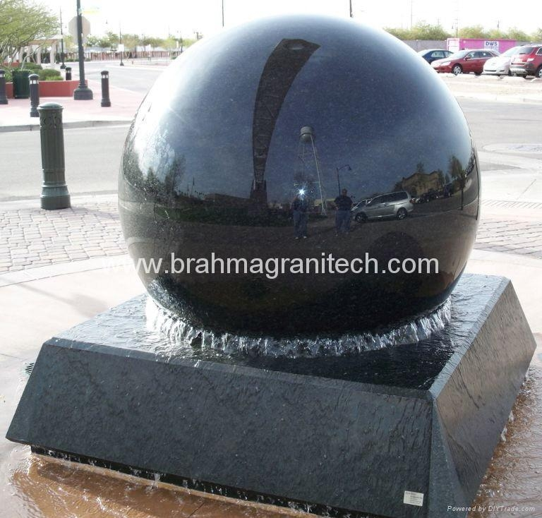 ball water feature giant floating spheres,stone globes