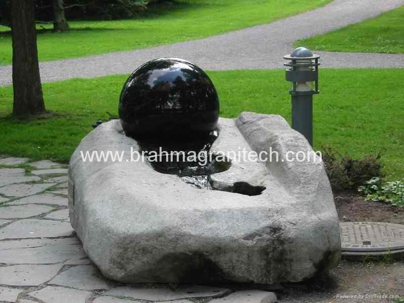 Rolling Сфера Фонтан в сфере фонтаны, глобус фонтан, Камень Вода особенности 3